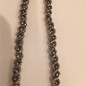 Jewelry - Silver/marcasite necklace. Vintage. Judith Jack?